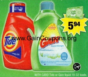 gain coupons and tide coupons