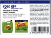 gain coupons $2,50 off price